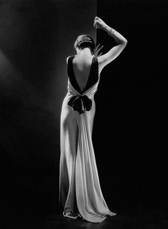 Toto Koopman In Evening Dress By Augustabernard, Paris, 1933 Photograph by George Hoyningen-Huene