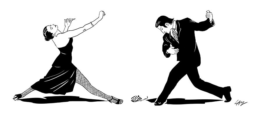 Touchless Tango Drawing by Carol Lay