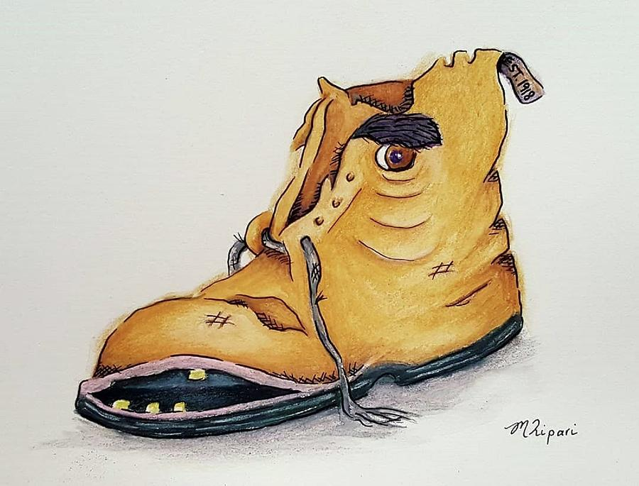 Old Drawing - Tough As Old Boots by Michelle Ripari