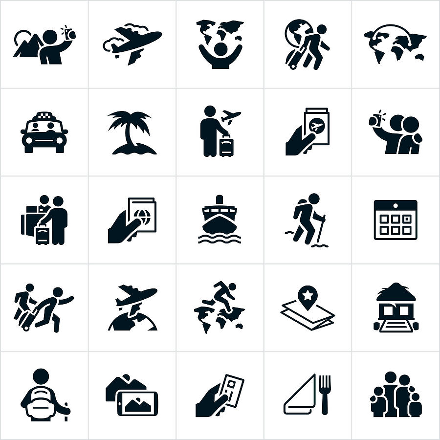Tourism Icons Drawing by Appleuzr