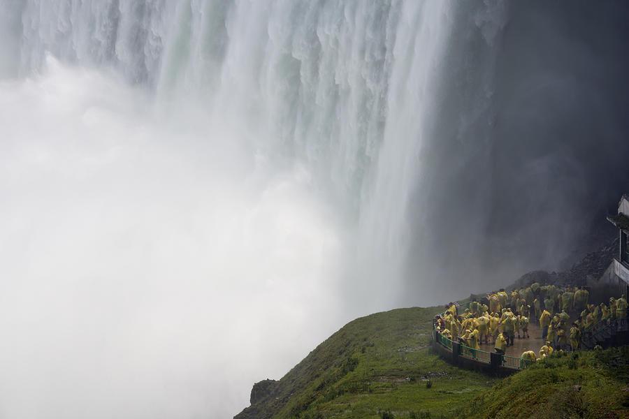 Tourists at Niagara Falls. Photograph by Guy Vanderelst