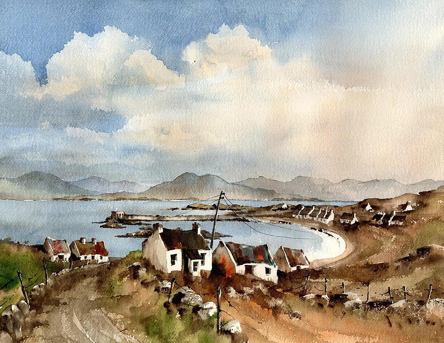 Towards Meelrea from Rusheen, Inishboffin, by Val Byrne