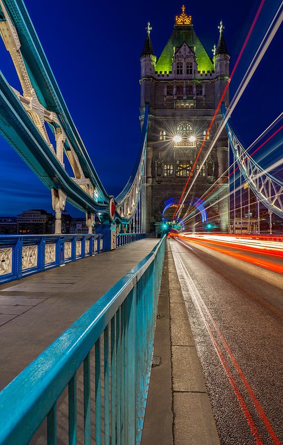 Tower Bridge In London Seen On A Lonely Morning. Photograph