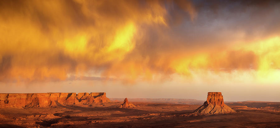 Tower Butte Sky Fire Photograph