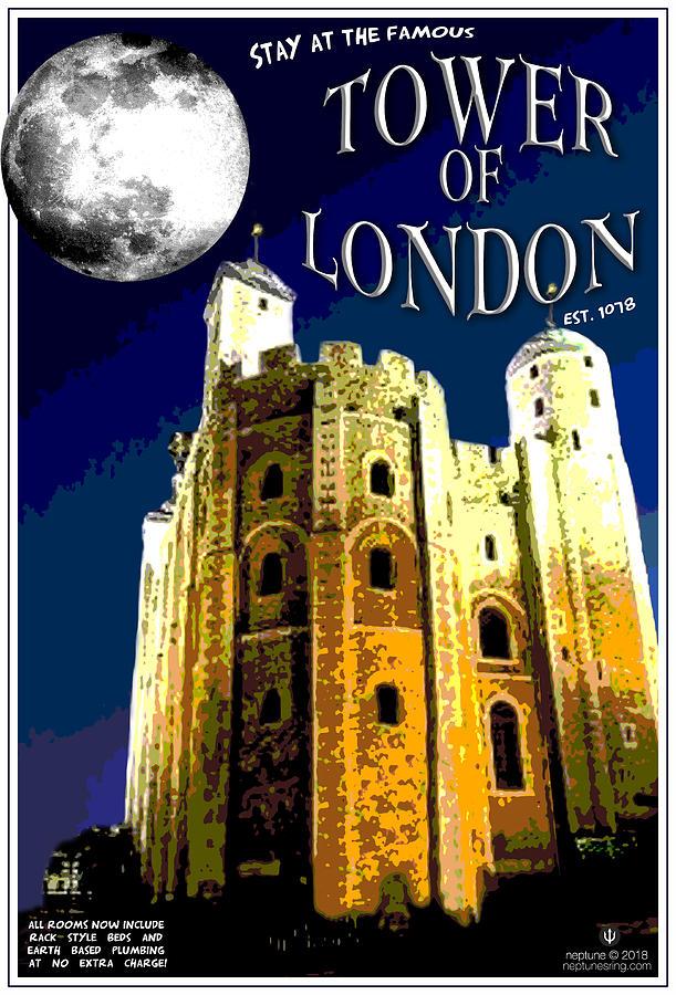 London Digital Art - Tower of London by Jason Neptune