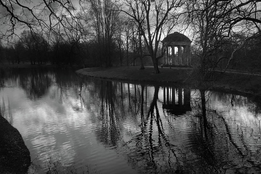 Tower Reflection In The Park Photograph