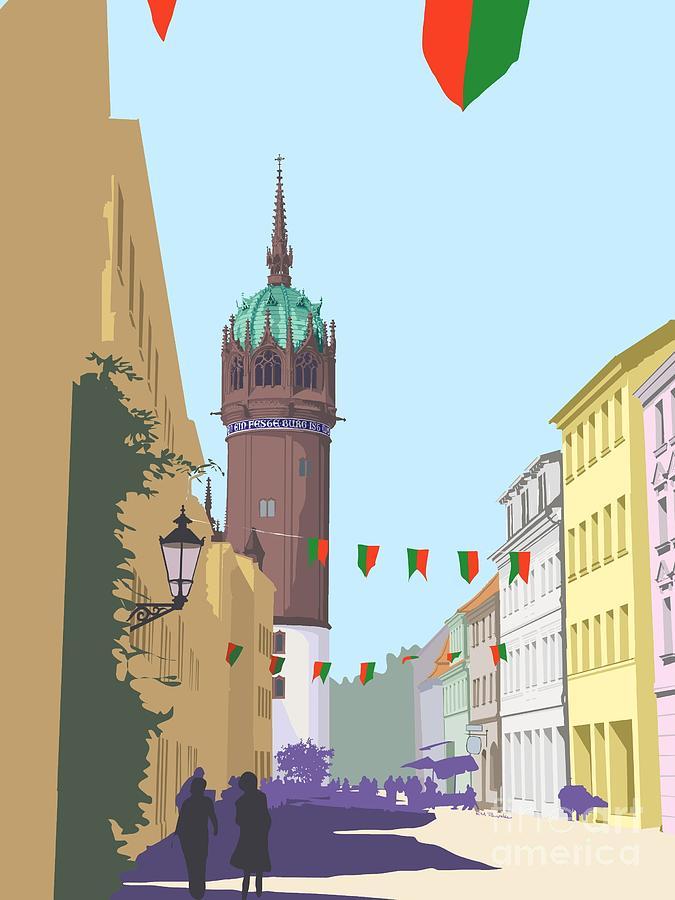 Germany Digital Art - Towering Monument by K M Pawelec