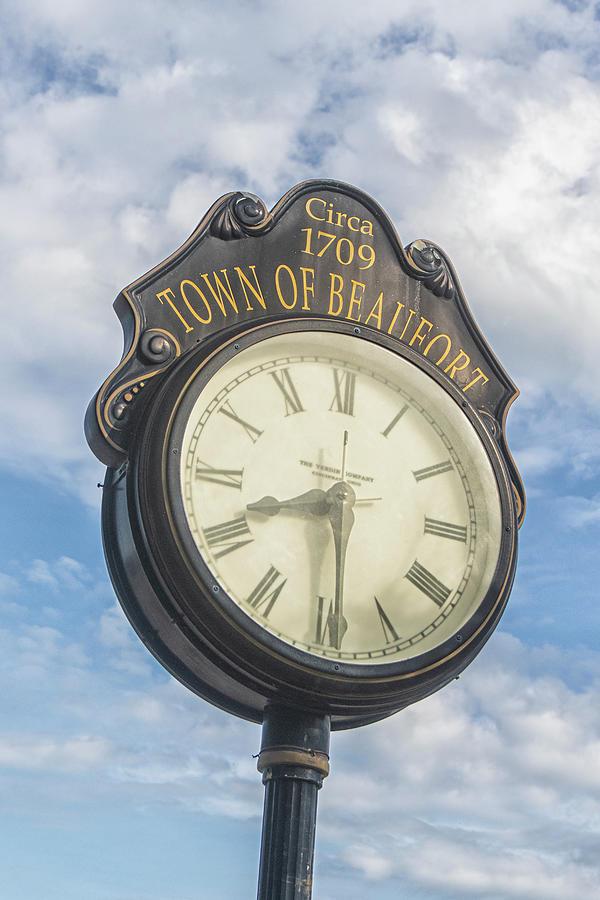 Town Clock - Beaufort North Carolina Photograph
