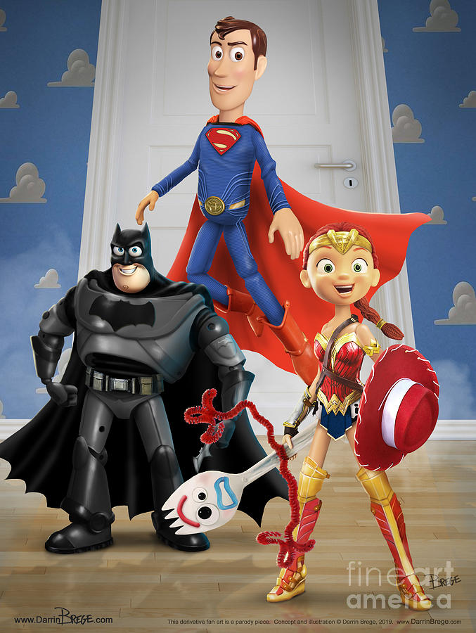 Toy Story Digital Art - Toys Of Justice by Darrin Brege