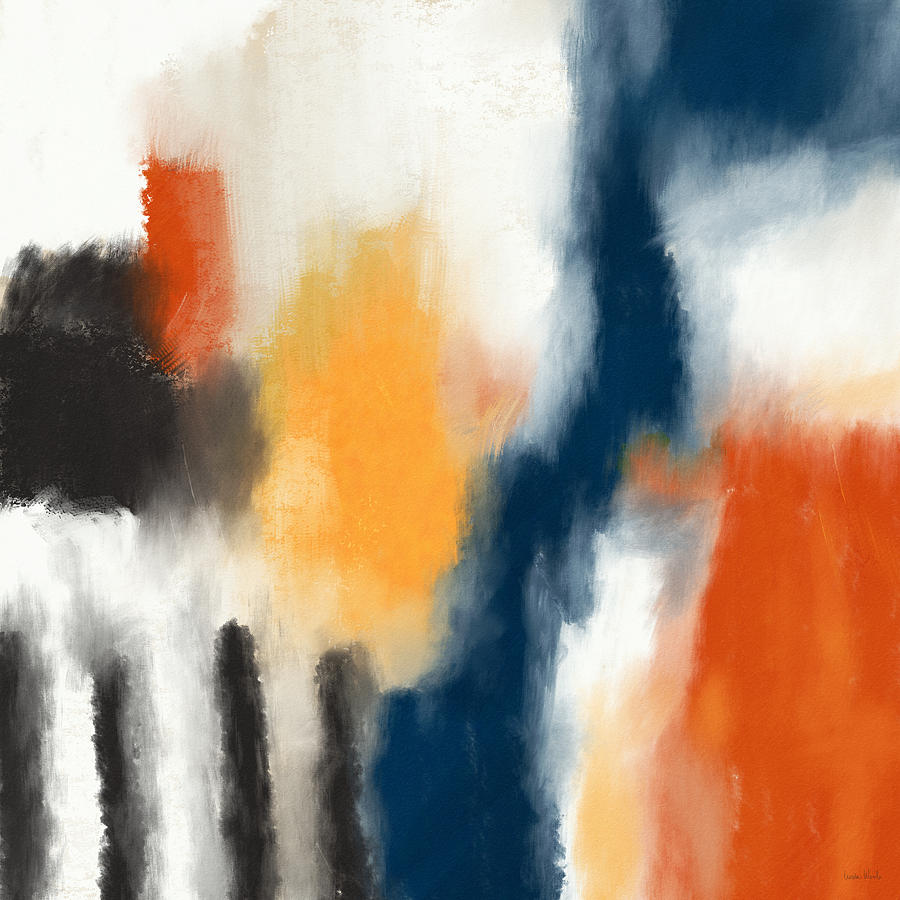 Abstract Painting - Trading Places- Art By Linda Woods by Linda Woods