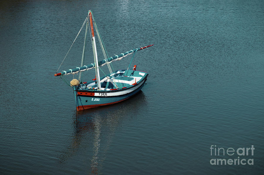 Portugal Photograph - Traditional Fishing Sailboat In Tavira by Angelo DeVal