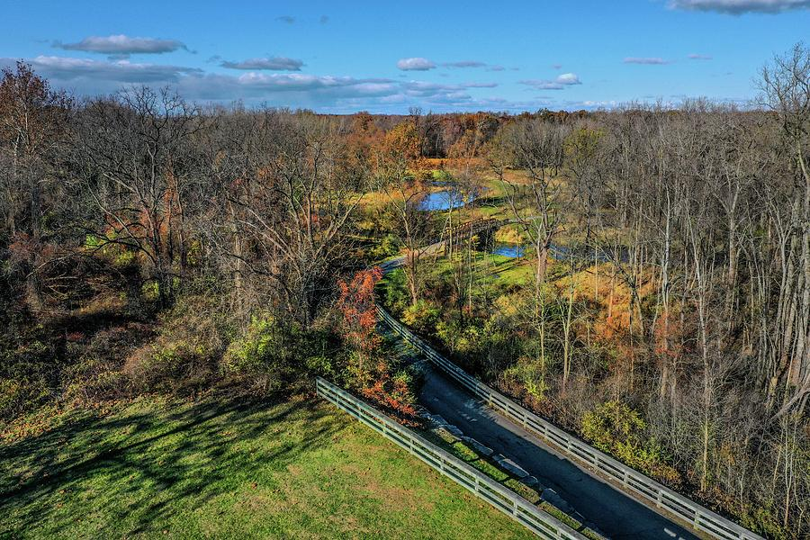 Trail in River Bend Park DJI_0381 by Michael Thomas