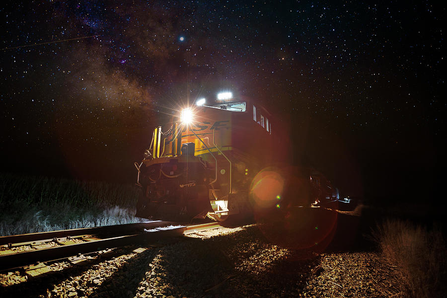 Milky Way Photograph - Train of Thought by Aaron J Groen