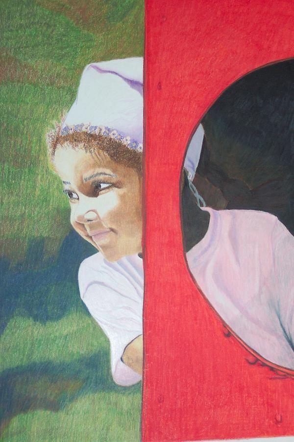 Child Drawing - Train Ride by Charla Van Vlack
