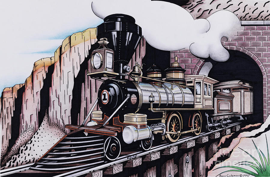 Train Drawing by Ross Coleman