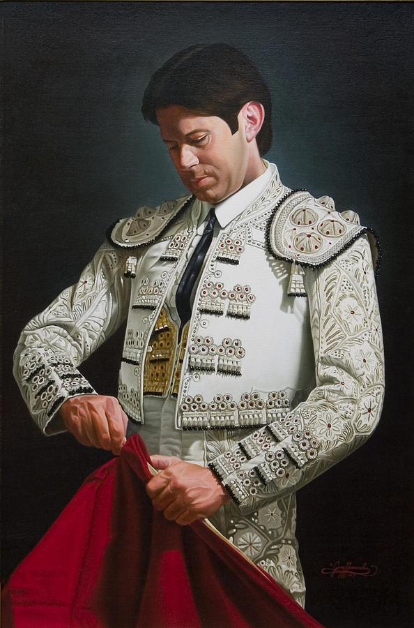 Figurative Painting - Traje de Luces by Gary  Hernandez