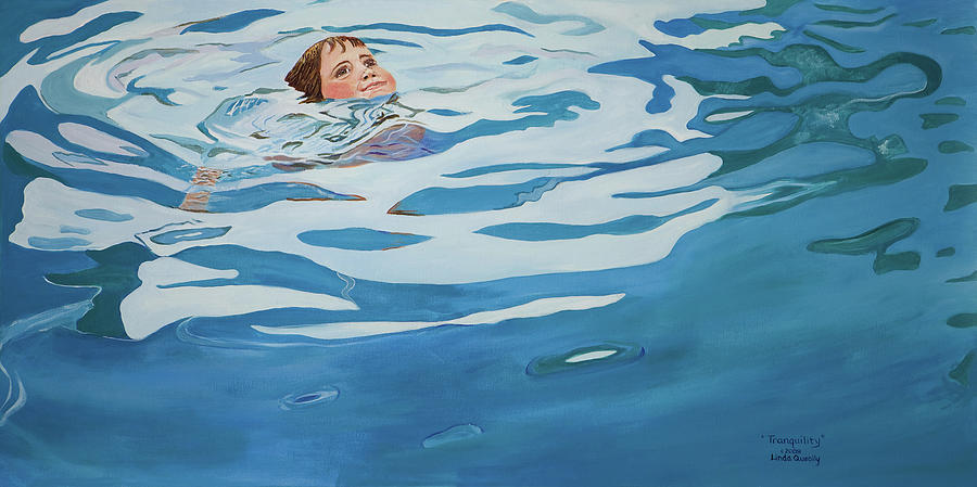 Swimming Pool Painting - Tranquility by Linda Queally