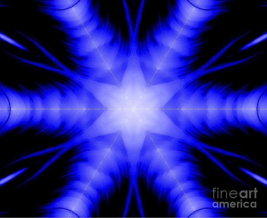 Tranquility Magenta Kaleidoscope Digital Art