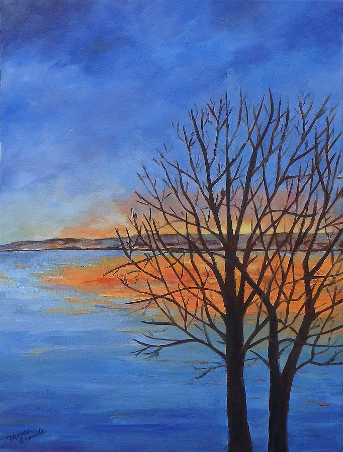 Sunset Painting - Tranquility by Monica Ironside