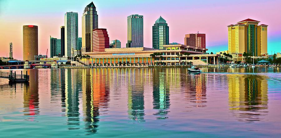 Transition Of Colors In Tampa Photograph
