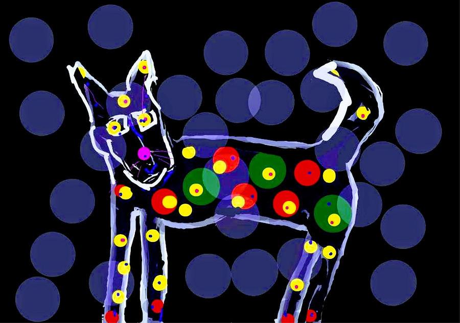 Transparent Dog Art by Kathy Barney