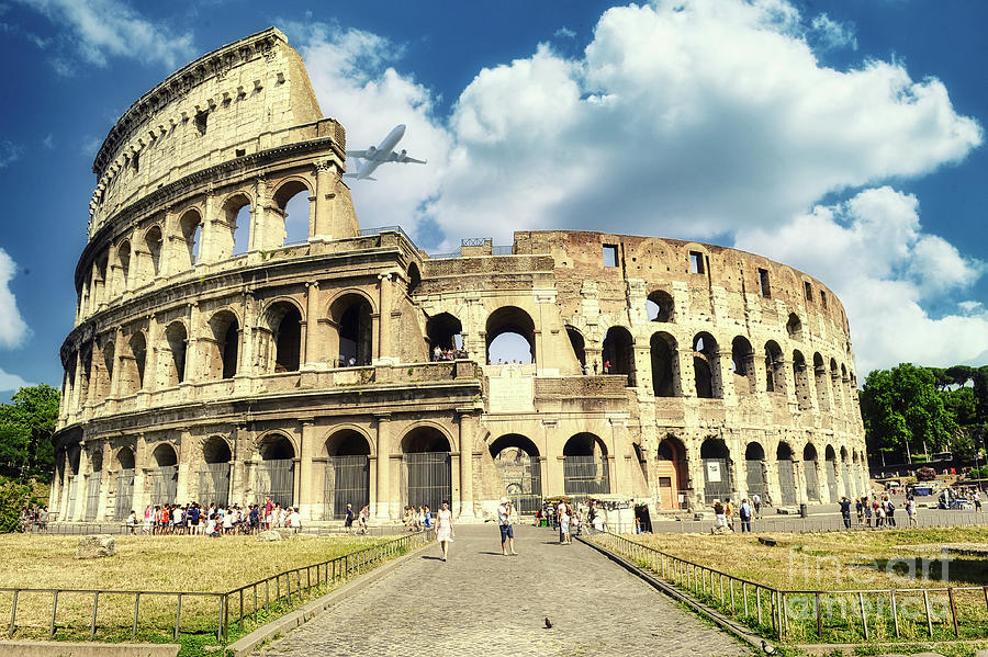 Coliseum Photograph - Travel in Rome - Colosseum  by Stefano Senise