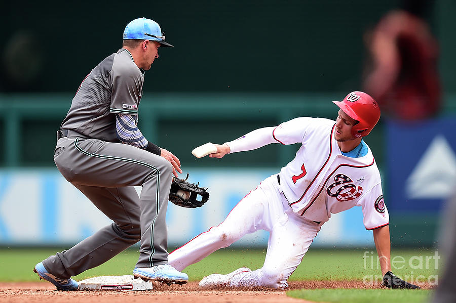 Trea Turner And Nick Ahmed Photograph by Patrick Mcdermott