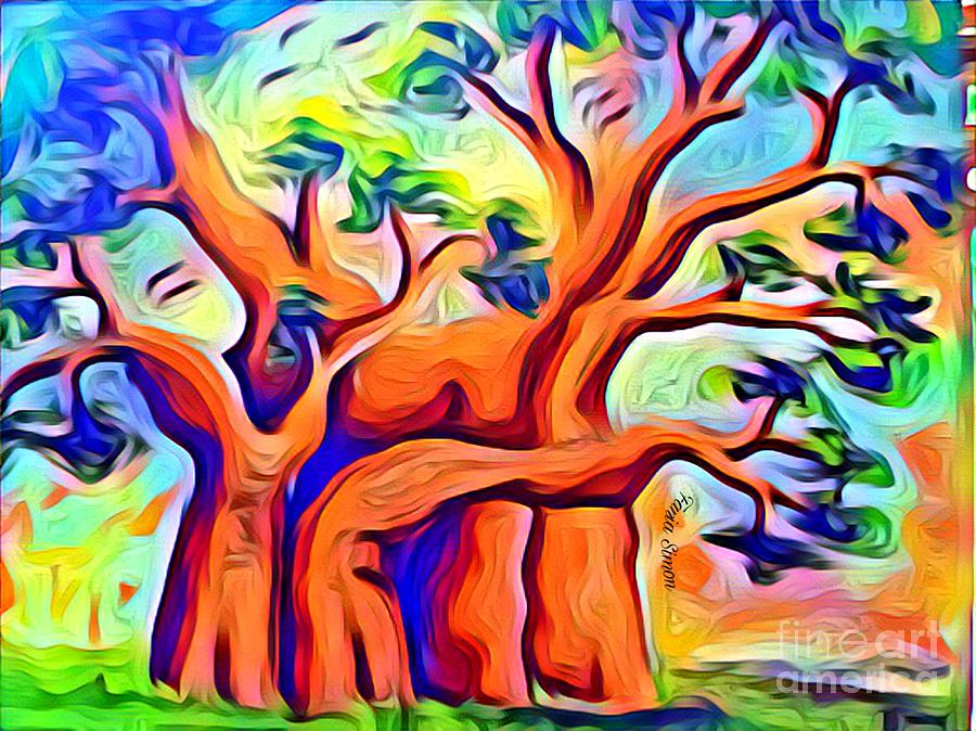 Tree Baobab by Fania Simon