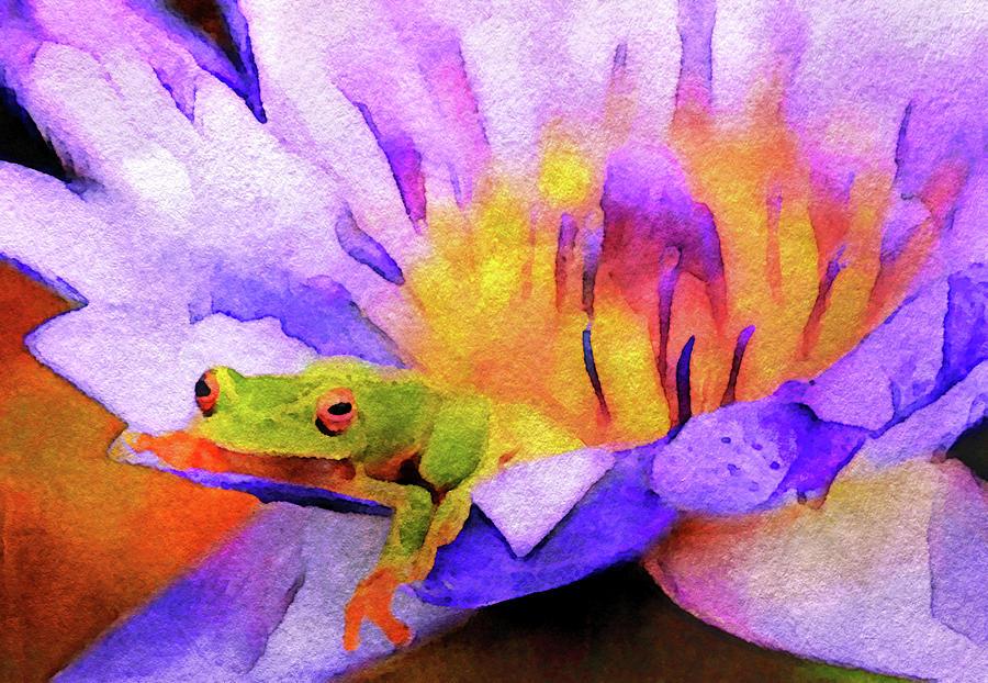 Tree Frog in Repose by Susan Maxwell Schmidt