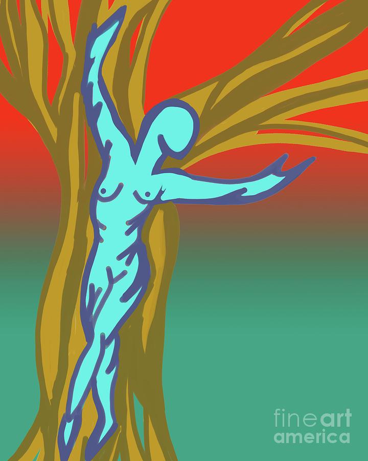 Tree Goddess Digital Art