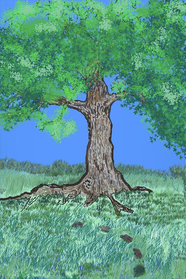 Tree Grass Sky by Gene Norris