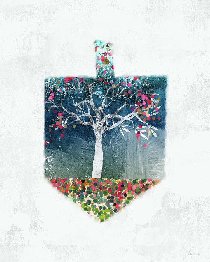 Dreidel Mixed Media - Tree Of Life Dreidel- Art By Linda Woods by Linda Woods