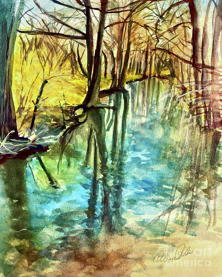 Tree Reflection Painting