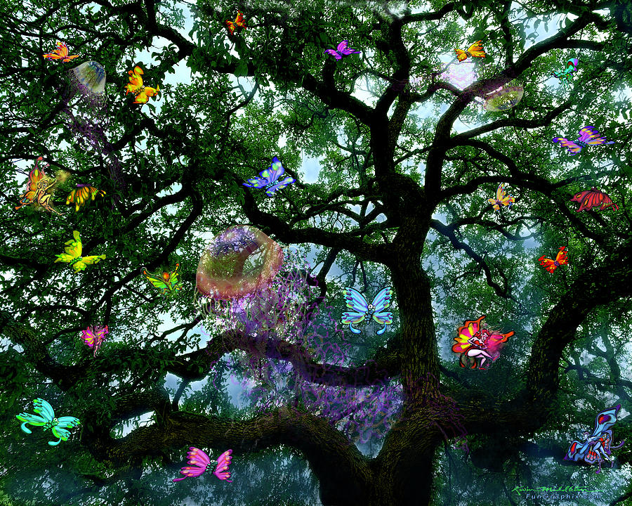 Tree Spirits Digital Art