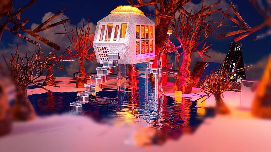 Treehouse B Digital Art