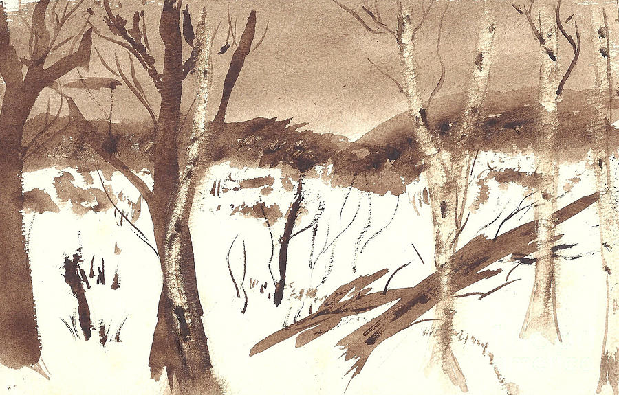Trees - A Watercolor by Eleanor Robinson