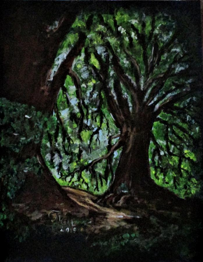 Trees No1. by Clyde J Kell