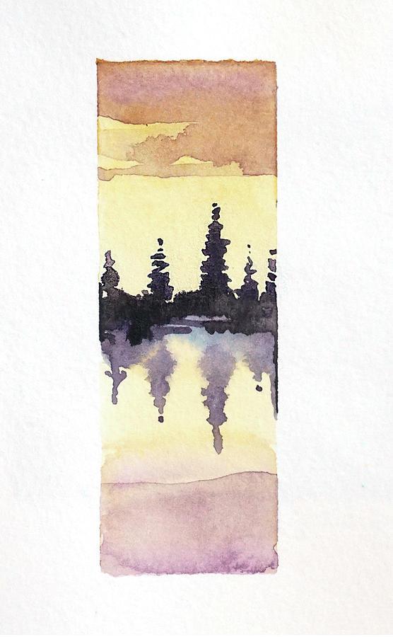 Trees On Tuolumne Lake Painting