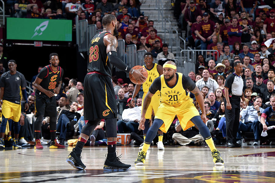Trevor Booker and Lebron James Photograph by David Liam Kyle