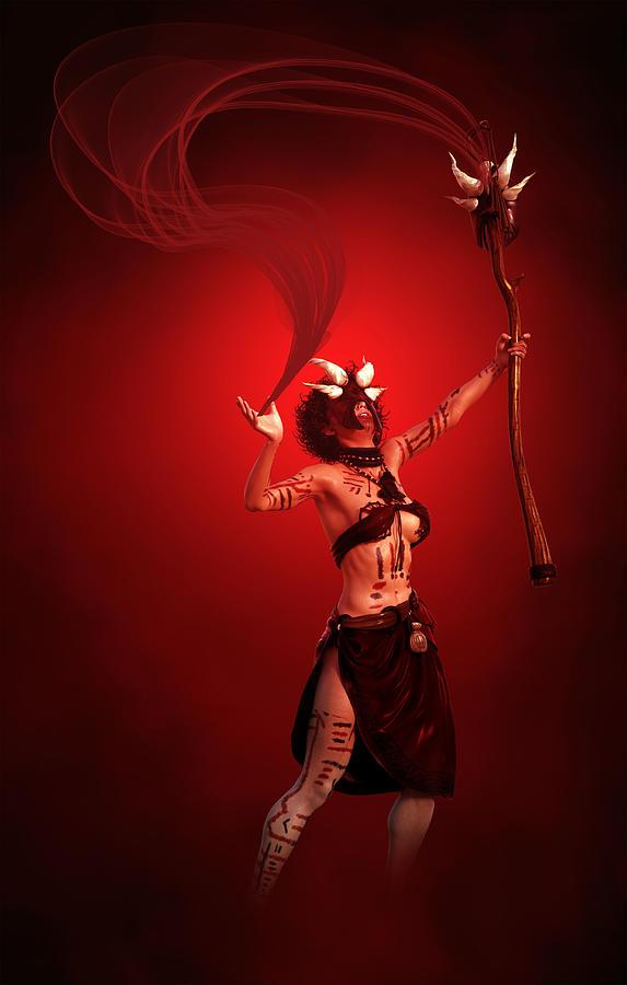 Tribal Witch Doctor 2 Digital Art