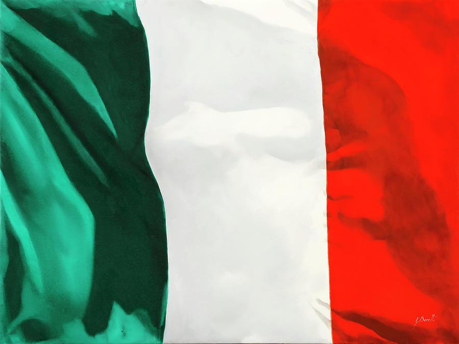 Tricolore Painting - Tricolore by Guido Borelli