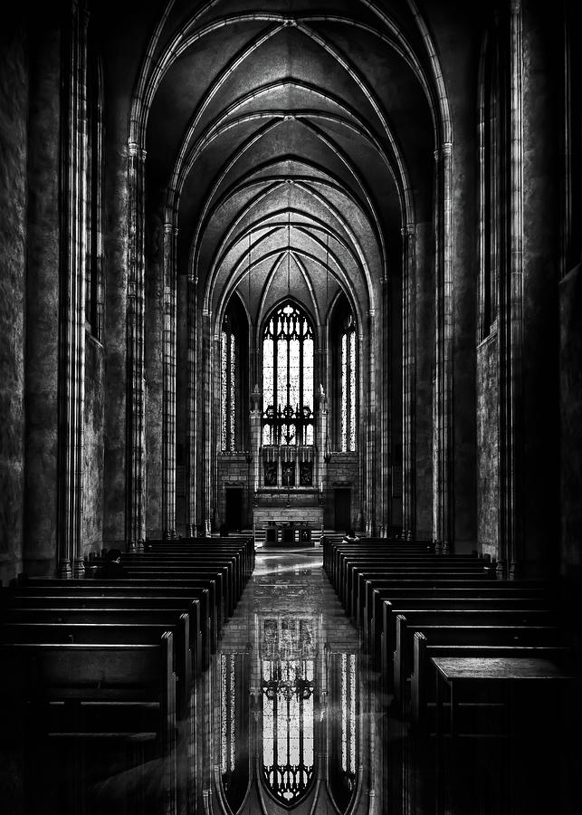 Trinity College Chapel Reflection Photograph