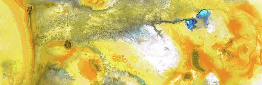 Yellow Painting - Triumph - Yellow Abstract Art By Sharon Cummings by Sharon Cummings