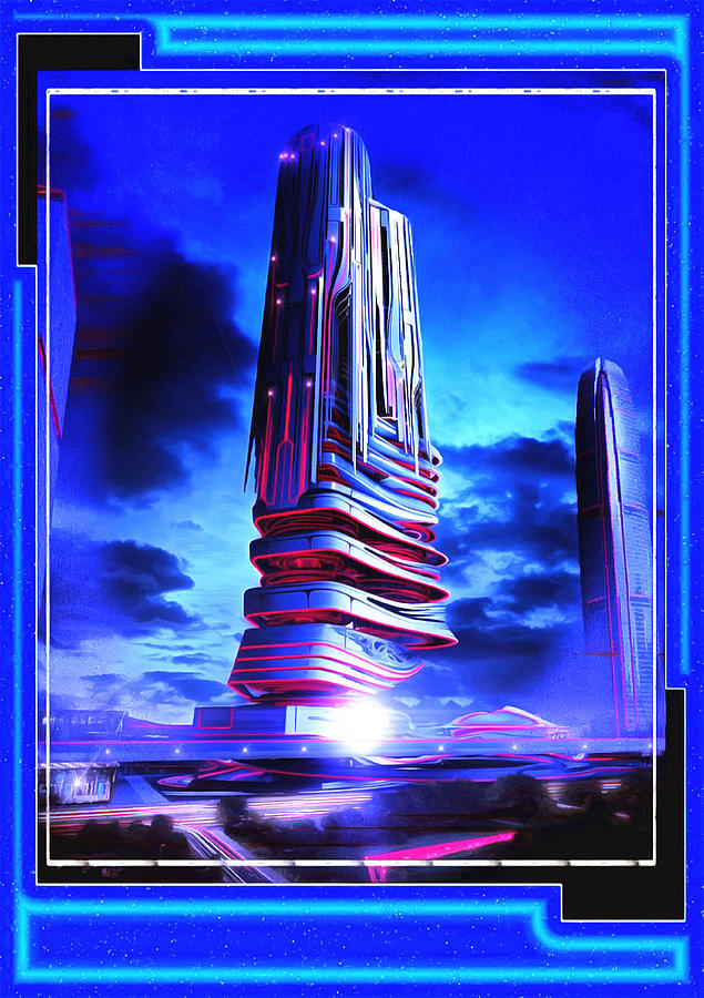 Tron Towers Digital Art