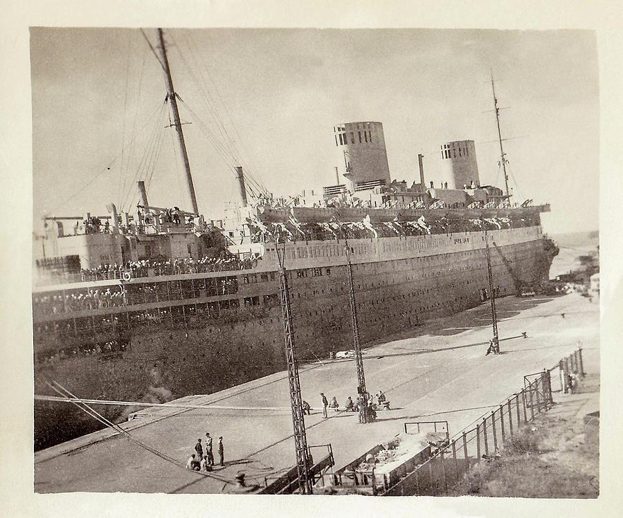 Troop Transport Ship Photograph