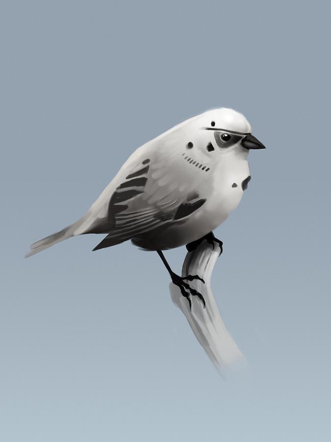 Birds Digital Art - Trooper Bird Flipped by Michael Myers