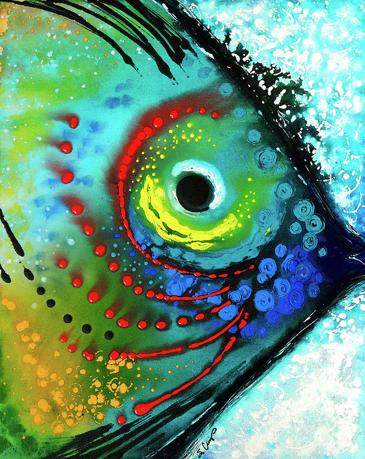 Fish Painting - Tropical Fish by Sharon Cummings