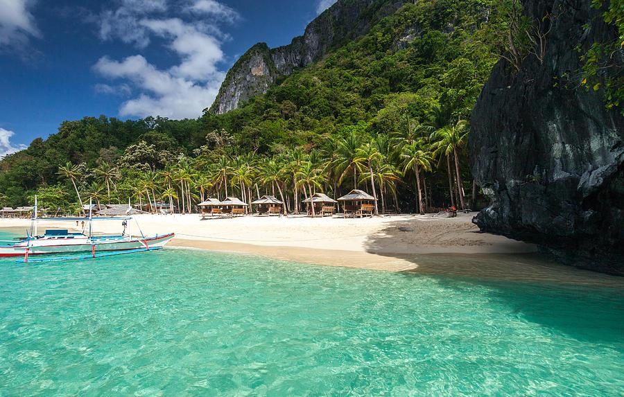 Tropical island beach in El Nido, Palawan Photograph by Quynh Anh Nguyen