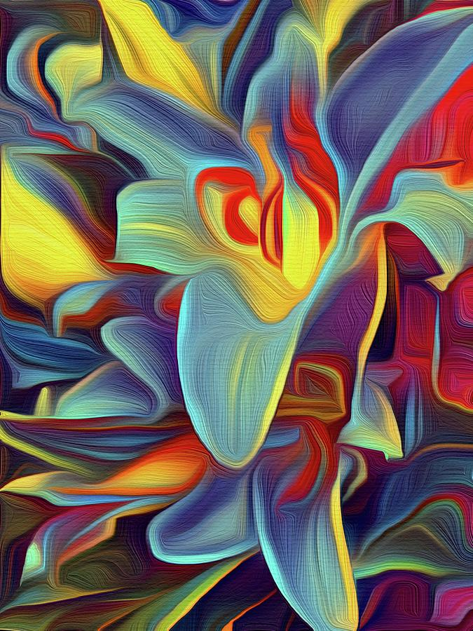 Tropical Photograph - Tropical Lilies Abstract by Christina Ford