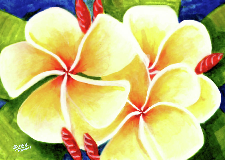 Tropical Plumeria Flowers #226 Painting